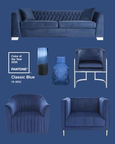Pantone Colour Of The Year 2020 - Classic Blue What do you think of. - Pantone Colour Of The Year 2020 – Classic Blue What do you think of the Pantone colou - Pantone Azul, Pantone Colour Palettes, Pantone 2020, Pantone Color, Home Design, Design Blog, Design Studio, Blue Colour Palette, Blue Color Schemes