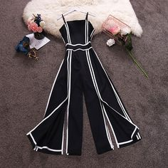 Shop this jumpsuit from 🌹🌹🌹 . by Style Tendance For Her🌸 Teenage Outfits, Teen Fashion Outfits, Stylish Outfits, Girl Outfits, Fashion Dresses, Pretty Outfits, Cute Outfits, Jugend Mode Outfits, Monochrome Fashion