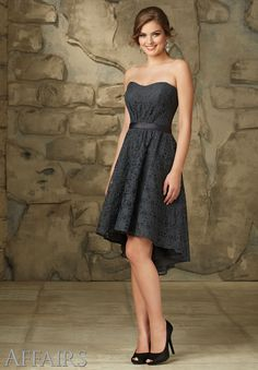 Morilee Hi-Lo Bridesmaid Dress - Tips and Picks: Bridesmaid Dresses to Match Lace Wedding Dress - EverAfterGuide