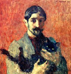 Self-Portrait with Cat Louis Valtat - 1899