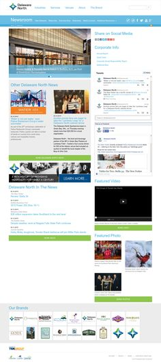Delaware North Online Newsroom integrates access to all of their brands in addition to breaking news, photos and videos and social media updates. http://media.delawarenorth.com