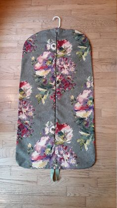 Hanging Garment Bag, Bouquet Garment Bag, Weekender by CarryItWell on Etsy Rebecca Brown, Peg Bag, Etsy Cards, Jungle Print, Garment Bags, Green Accents, Green Backgrounds, Gold Flowers, Grosgrain Ribbon