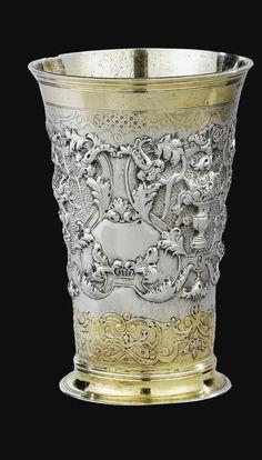 grande timbale en argent et Silver Work, 18th Century, Modern Art, Candle Holders, Vanity, Bronze, Decorations, Landscape, Interior Design