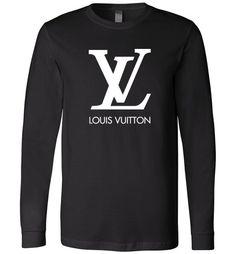 awesome Louis Vuitton Logo Long Sleeve Shirt