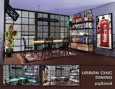 Urban Chic Dining. Sims 4 Custom Content. - pqSim4