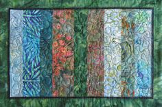 Quilted batik placemats set of four sky blue by Quiltsbysuewaldrep