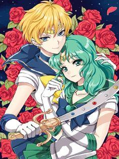 Sailor Uranus and Neptune. literally love them so much.
