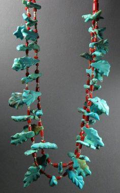 "Sarah Leekya, turquoise & coral, yr 2013, 13"", $4500, PH-B1-1006"