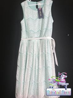 BNWT Cherokee Mint & Lace Dress Size 14/16 $14.99  Originally $24.99
