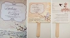Hand Fan Order of Service  This order of service hand fan is perfect for  any hot summer's day. Your bridal retinue will be  printed on one side, and ceremony details on  the reverse.