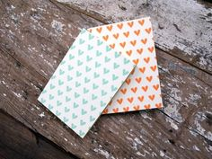 all hearts letterpress printed notebook by cleanwash letterpress