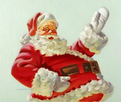 """This is what Santa always has looked like in my mind. I love these """"vintage"""" versions!"""