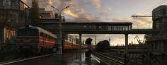russian train stations | Home - Wallpapers / Photographs - Other - Russian railway station