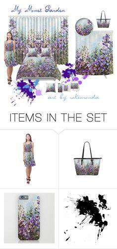 """Monet Garden"" by artist-rhonda ❤ liked on Polyvore featuring art"