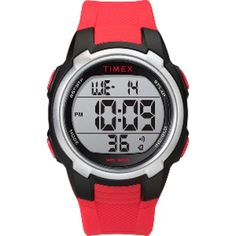 Designed with runners in mind, the tough Timex digital sports watch offers chronograph functionality, a backlight and multiple alarms—perfect for your athlete. Available at REI, Satisfaction Guaranteed. Sport Watches, Cool Watches, Watches For Men, Gps Watches, Popular Watches, Casual Watches, Digital Sports Watch, Digital Watch, Tactical Watch