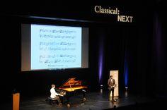 Kimiko Ishizaka and Robert Douglass on stage at Classical:NEXT