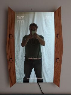 """our joinery smart mirror with 32"""" monitor"""