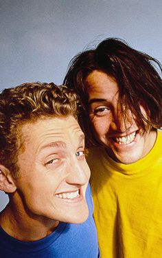 Alex Winter and Keanu Reeves Keanu Reeves Tumblr, The Lost Boys 1987, Alex Winter, Keanu Charles Reeves, Famous Celebrities, My Sister, Ted, Actors, Face