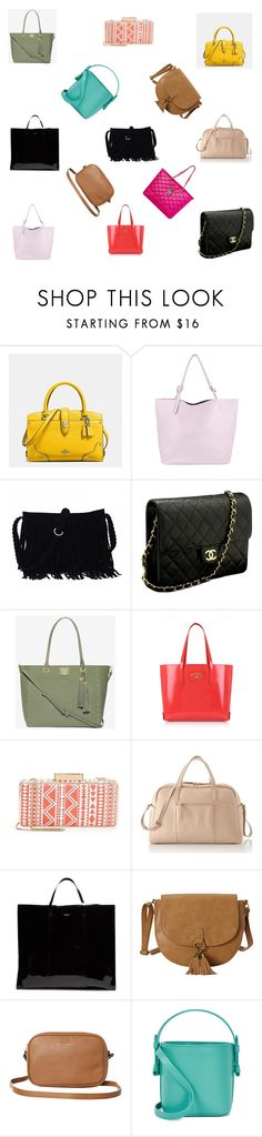 """""""stow and go"""" by cassandra-beauchamp on Polyvore featuring Coach, Coccinelle, Chanel, White House Black Market, Vivienne Westwood, Franchi, Mark & Graham, Balenciaga, T-shirt & Jeans and Status Anxiety"""