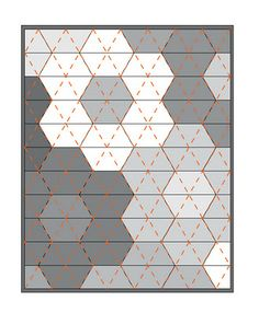 Floating On Cloud9: Monsterz-Sized Hexagon Quilt Tutorial