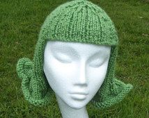 Fun and Funky Hat Wig Chemo Cap. A knitting pattern with photo