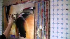 Acrylmalerei  Abstract acrylic Painting Demo    Little Sunshine