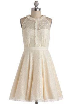 vintage chic wedding dress alternative affordable.  Resplendent Rime Dress, #ModCloth