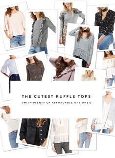 The Cutest Ruffle Tops to Add to Your Closet   fashion tips and tricks   spring fashion   spring style   styling for spring   fashion for spring   style tips    Glitter, Inc.