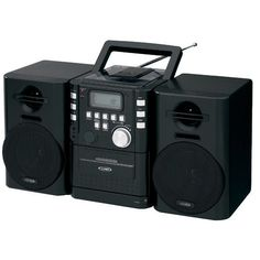 JEN-CD-725 Portable CD Music System with Cassete and FM stereo receiver #Jensen
