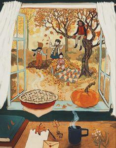 Autumn Cozy, Autumn Art, Autumn Illustration, Cute Illustration, Autumn Aesthetic, Illustrations, Hello Autumn, Autumn Inspiration, Cute Art