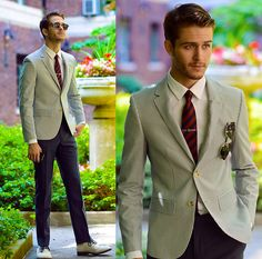 Blazer, Tie, Tie Bar, Clubmasters, Giorgio Armani Armani Watch, Trousers #fashion #mensfashion #menswear #style #outfit