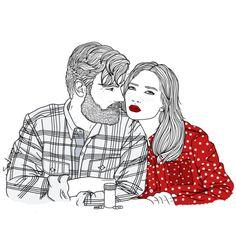 Amor es compartir resaca e ibuprofeno. Feliz 2014. By Sara Herranz.