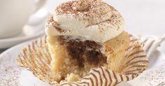 Coffee-soaked vanilla cupcake with a Amaretto mascarpone frosting.