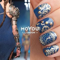 💅 Haute couture inspo for your steampunk mani! Get some fantastic ideas from famous catwalks we've selected on our blog! @jpgaultierofficial #myl #moyoulondon #mylsept #nailart #stamping #mani #steampunk #fashion #jpgaultier #jeanpaulgaultier  Find all of our catwalk inspired manicures on #MYLxCATWALK