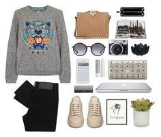 """kenzo sweater"" by itsmytimetoshinecoco ❤ liked on Polyvore"