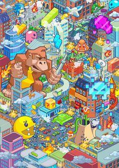 Pixel Art Apocalypse: Game Over, Terráqueos! Retro Videos, Retro Video Games, Video Game Art, Retro Games, Pixel Art, Deco Gamer, 8bit Art, Video Game Characters, Geek Art