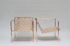"Rod + Weave Chair- 27""h, 25""w, 27""d"