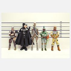 $18 Usual Suspects 10x8 - Is it just us, or are criminals getting more goofy-looking these days? This charming, whimsical print is part of Marcos Minuchin's The Secret Life of Toys collection, which imagines what goes on outside the toy box.