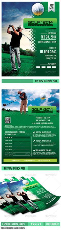 Golf Banner Roll-Up Template Δημιουργικός, Γραμματοσειρές και Σπορ - golf tournament flyer template
