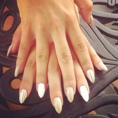 pearly white nails