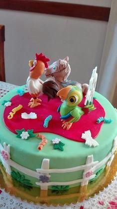 Saralina :: Torta La Granja de Zenon Birthday Parties, Happy Birthday, Birthday Ideas, Baby Shawer, Ideas Para Fiestas, Fondant, Picnic, Birthdays, Desserts