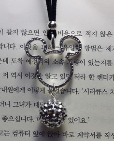 Disney Insprired Mickey Ears Neckace - Black and SIlver. $18.00, via Etsy.
