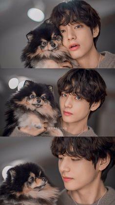 Kim Taehyung and Yeontan Bts Jimin, Taehyung Selca, Bts Bangtan Boy, Foto Bts, Daegu, K Pop, V Chibi, Photo Polaroid, V Bts Cute