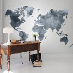 Een wereldkaart spreekt vele mensen aan, altijd leuk om te zien waar je bent geweest of nog graag naar toe zou willen.