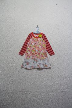 Recycled T Shirt Dress Girl's Dress Size 3 by cynthiamadeforkids
