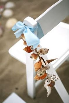 beach theme #wedding - shell garland