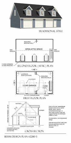 Two Car Garage With Shop Plan 1152 2 24 39 X 48 39 By Behm