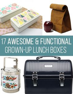 I pretty much would like one of each please- thanks...17 Gorgeous Lunch Boxes For Grown-Ups