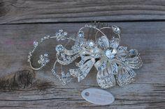 Bridal Hair Comb Wedding Hair Comb Crystal Hair by YolisBridal