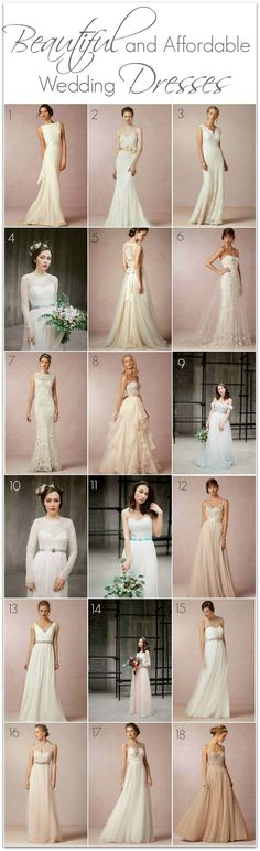 My top picks for affordable wedding dresses that are also absolutely gorgeous!